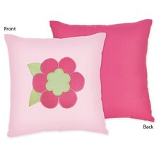 Flower Pink and Green Decorative Pillow
