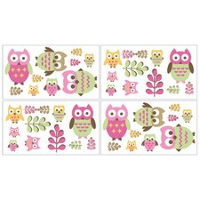 Happy Owl Collection Wall Decal Stickers