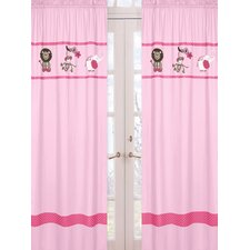 <strong>Sweet Jojo Designs</strong> Jungle Friends Curtain Panel (Set of 2)