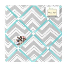 <strong>Sweet Jojo Designs</strong> Zig Zag Turquoise and Gray Collection Memo Board