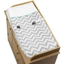 <strong>Sweet Jojo Designs</strong> Zig Zag Turquoise and Gray Collection Changing Pad Cover