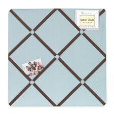 Hotel Blue and Brown Collection Memo Board