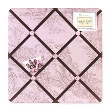 Pink and Brown Toile Memo Board
