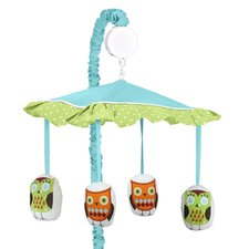 Hooty Turquoise and Lime Collection Musical Mobile