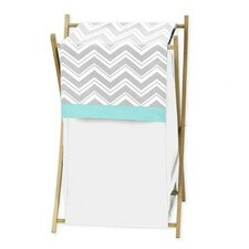 <strong>Sweet Jojo Designs</strong> Zig Zag Turquoise and Gray Laundry Hamper
