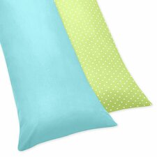 Hooty Turquoise and Lime Body Pillowcase