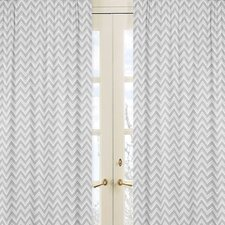 Zig Zag Cotton Curtain Panel (Set of 2)