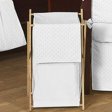 <strong>Sweet Jojo Designs</strong> Minky Dot White Laundry Hamper