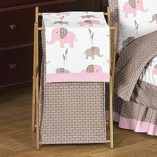 <strong>Sweet Jojo Designs</strong> Elephant Pink Laundry Hamper