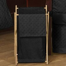 <strong>Sweet Jojo Designs</strong> Minky Dot Black Laundry Hamper