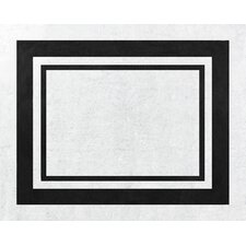 Hotel White and Black Floor Rug