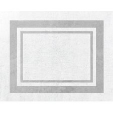 Hotel White and Gray Floor Rug