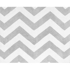 Zig Zag Floor Grey/White Area Rug