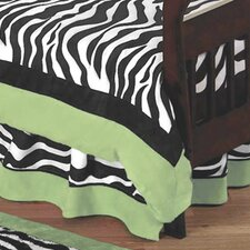 Zebra Lime Toddler Bed Skirt