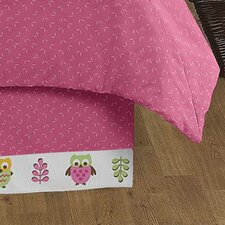 Owl Pink Queen Bed Skirt