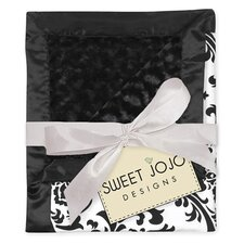 <strong>Sweet Jojo Designs</strong> Isabella Black and White Collection Baby Blanket