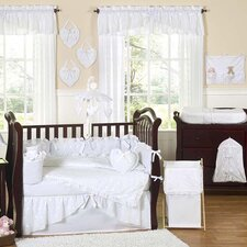 <strong>Sweet Jojo Designs</strong> Eyelet White 9 Piece Crib Bedding Set