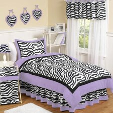 Zebra Purple Collection 4pc Twin Bedding Set