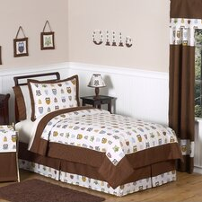 Night Owl Collection Twin Bedding Set