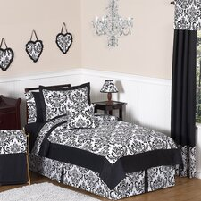 <strong>Sweet Jojo Designs</strong> Isabella Black and White Collection Twin Bedding Set