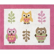 <strong>Sweet Jojo Designs</strong> Happy Owl Kids Floor Rug