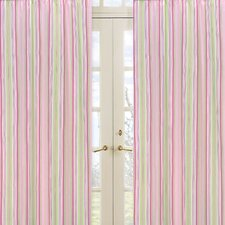 Jungle Friends Stripe Print Curtain Panel (Set of 2)