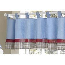 Fire Truck Cotton Tab Top Curtain Valance