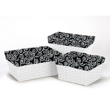 <strong>Sweet Jojo Designs</strong> 3 Piece Scroll Print Basket Liner Set