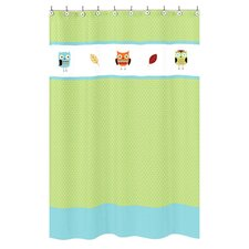 Hooty Cotton Shower Curtain