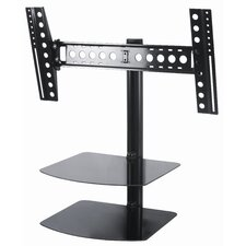 "Tilt and Turn TV Mount with AV Shelving (46"" Screens)"