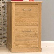 Mobel Oak 2 Drawer Filing Cabinet
