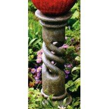 Spiral Globe Column Gazing Globe Pedestal Stand