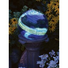 Blue Swirl Illuminaries Gazing Globe