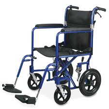 <strong>Medline</strong> Ultra Lightweight Bariatric Transport Wheelchair with Arms