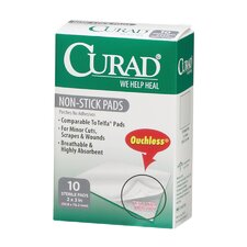 Curad Non-Stick Pad with Adhesive Tabs (Case of 12)