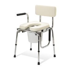 <strong>Medline</strong> Padded Drop Arm Commode