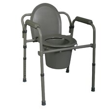 3-in-1 Deluxe Steel Commode