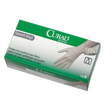 Medium Curad Stretch Vinyl Exam Gloves