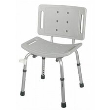 Shower Chair in Grey with Back