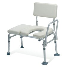 <strong>Guardian</strong> Padded Transfer Bench with Commode Opening