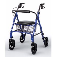 Lightweight Rollator with Padded Seat in Royal Blue
