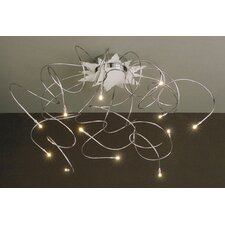 <strong>Lucifero Illuminazione</strong> Faal Small 12 Lights Semi Flush Ceiling Lamp in Chrome