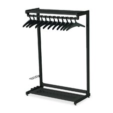 61.5'' H x 48'' W 2 Shelf Garment Rack