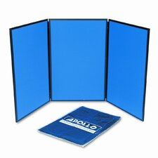 ShowIt Three-Panel Display System 3' x 6' Bulletin Board