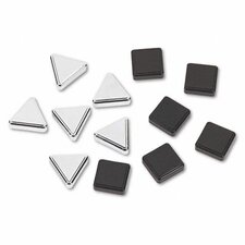Metallic Magnets, 12/Pack