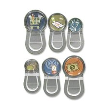 Bubble Push Pins, w/ Clips, Assorted Designs