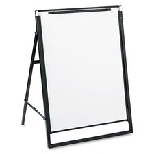 Futura Dry-Erase Presentation Easel in White with Black Frame