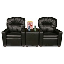 Theater Seating Leather Kid's Recliner Chair