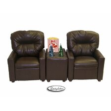 <strong>Dozy Dotes</strong> Theater Seating Leather Kid's Recliner Chair