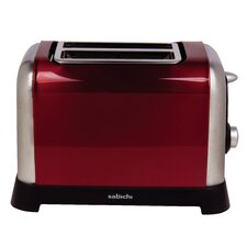 Manhattan 2 Slice Toaster in Metallic Red